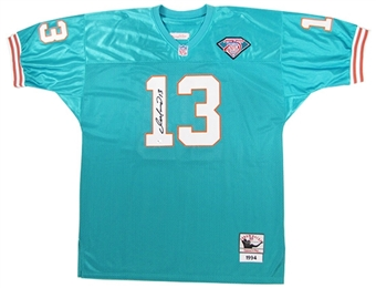 Dan Marino Autographed Miami Dolphins Teal Jersey (GAI COA)