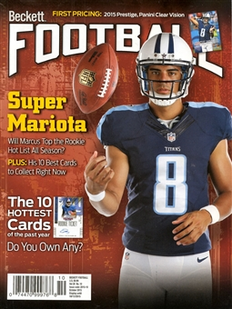 2015 Beckett Football Monthly Price Guide (#297 October) (Marcus Mariota)