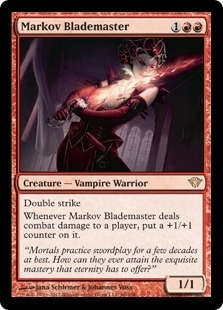 Magic the Gathering Dark Ascension Single Markov Blademaster Foil