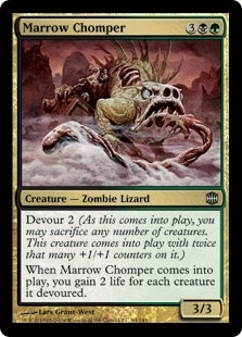 Magic the Gathering Alara Reborn Single Marrow Chomper FOIL