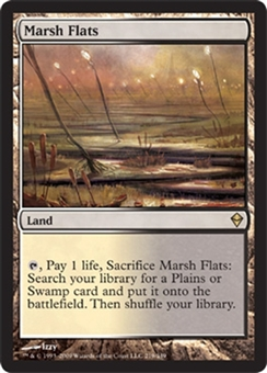 Magic the Gathering Zendikar Single Marsh Flats FOIL