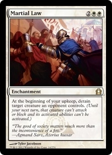 Magic the Gathering Return to Ravnica Single Martial Law UNPLAYED (NM/MT)