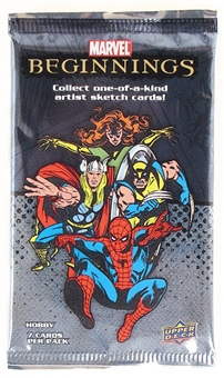 Marvel Beginnings Trading Cards Hobby Pack (Upper Deck 2011)