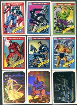 Marvel Universe 162 Card Set + 5 Hologram Set 1991 Impel
