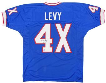 Marv Levy Autographed Buffalo Bills Football Jersey DACW