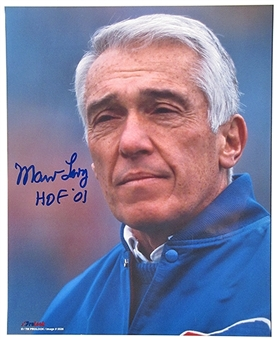 Marv Levy Autographed Buffalo Bills close up 8x10 Photo