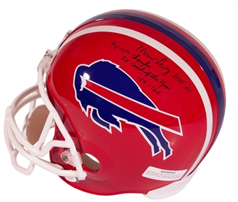 Marv Levy Autographed Buffalo Bills Full Size Football Helmet with Inscriptions