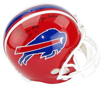 Marv Levy Autographed Buffalo Bills Full Size Football Helmet Where Else