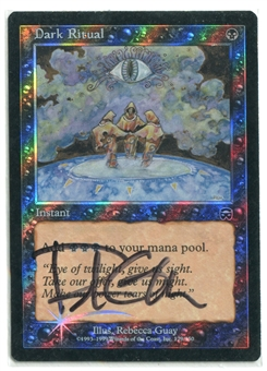 Magic the Gathering Mercadian Masques Single Dark Ritual FOIL - SIGNED MODERATE PLAY