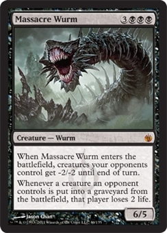 Magic the Gathering Mirrodin Besieged Single Massacre Wurm Foil