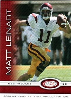 2006 Sage Matt Leinart Rookie National Convention Exclusive - 100 Card Lot