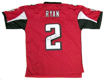 Matt Ryan Autographed Atlanta Falcons Red Football Jersey