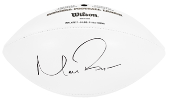 Matt Ryan Autographed Atlanta Falcons Wilson Football (Press Pass)
