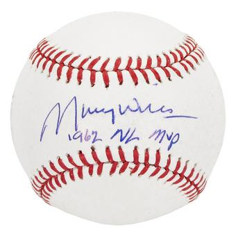 Maury Wills Autographed Los Angeles MLB Baseball PSAMaury Wills Autographed Los Angeles MLB Baseball PSA