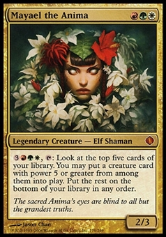 Magic the Gathering Shards of Alara Single Mayael the Anima FOIL - SLIGHT PLAY (SP)