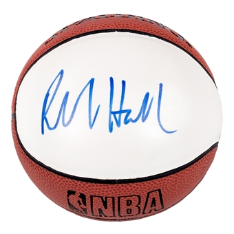Richard Hamilton Autographed Detroit Pistons Mini Spalding Basketball (Press Pass)