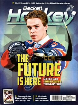 2015 Beckett Hockey Monthly Price Guide (#277 September) (Conor McDavid)