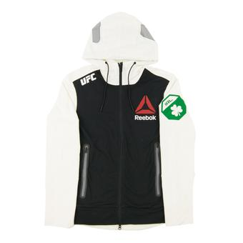 Conor McGregor UFC Reebok White Walkout Full Zip Hoodie (Adult Medium)