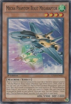 Yu-Gi-Oh Lord Tachyon Galaxy Single Mecha Phantom Beast Megaraptor Super Rare
