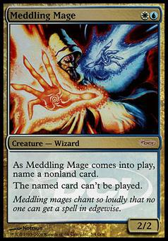 Magic the Gathering Promotional Single Meddling Mage - SLIGHT PLAY (SP)