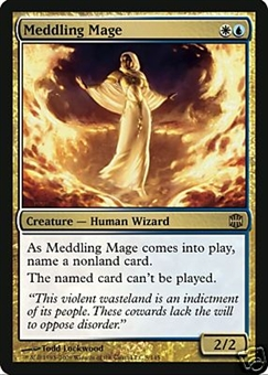 Magic the Gathering Alara Reborn Single Meddling Mage UNPLAYED (NM/MT)