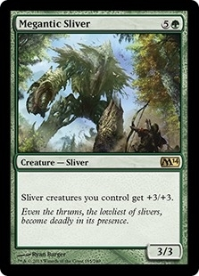 Magic the Gathering 2014 Single Megantic Sliver FOIL