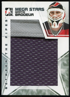 2009/10 Between The Pipes Mega Stars #MS14 Martin Brodeur 2 Color Jersey SP /60