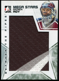 2009/10 Between The Pipes Mega Stars #MS21 Patrick Roy 3 Color Jersey SP /60