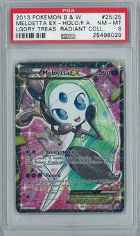 Pokemon Radiant Collection Meloetta EX RC25/RC25 Full-Art Holo Rare PSA 8