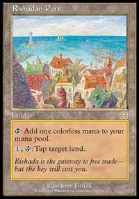 Magic the Gathering Mercadian Masques Single Rishadan Port - MODERATE PLAY (MP)