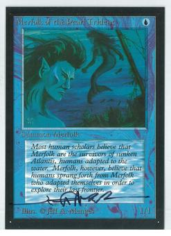 Magic the Gathering Beta Artist Proof Merfolk of the Pearl Trident - SIGNED BY JEFF A. MENGES