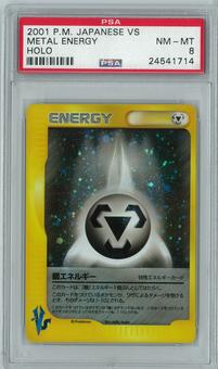 Pokemon Japanese VS Metal Energy Holo Rare PSA 8