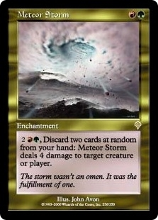 Magic the Gathering Invasion Single Meteor Storm Foil