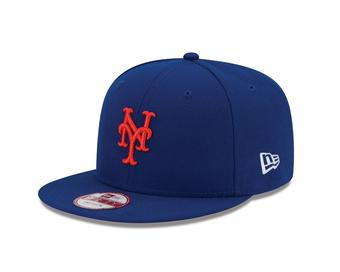 New York Mets New Era 9Fifty Baycik Royal Blue Snapback Hat (Adult OSFA)