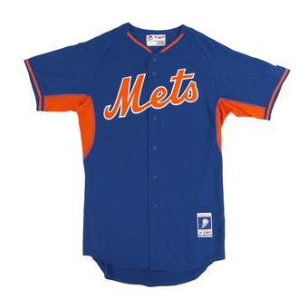 New York Mets Majestic Royal BP Cool Base Authentic Performance Jersey (Adult 52)