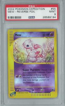 Pokemon Expedition Mew 55/165 Reverse Foil PSA 9