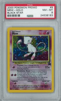 Pokemon Black Star Promo Mew 9 Holo Rare PSA 8