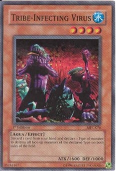 Yu-Gi-Oh Magician's Force 1st Edition Tribe-Infecting Virus Super Rare MFC-076