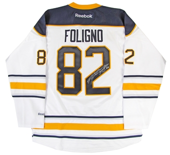 Marcus Foligno Autographed Buffalo Sabres White Hockey Jersey
