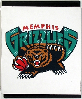 Memphis Grizzlies 2004 NBA Draft Board Team Logo Panels