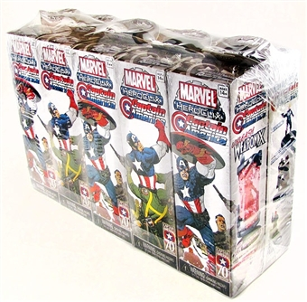 Marvel HeroClix Captain America Booster Brick (10 Ct.) (+ Buy it by the Brick Figure)