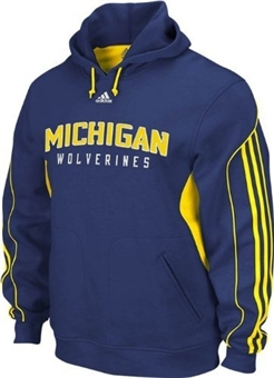 Michigan Wolverines Adidas Navy FG Pullover Hoodie (Size Large)