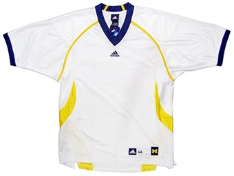 University of Michigan Wolverines Adidas White Authentic Football Jersey (Size 52)
