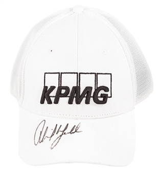 Phil Mickelson Autographed Official White Callaway KPMG Hat (JSA)