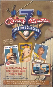 1997 ScoreBoard Mickey Mantle Shoebox Collection Baseball Box