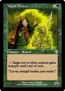 Magic the Gathering Invasion Single Might Weaver Foil