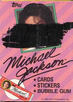 Michael Jackson Series 1 Wax Box (1984 Topps)