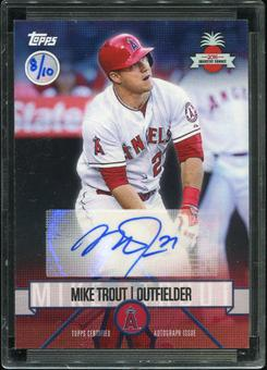 2016 Topps Baseball Hawaii Summit Exclusive Mike Trout Autograph 8/10