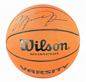 Michael Jordan Autographed Chicago Bulls Official Wilson Basketball (Upper Deck)
