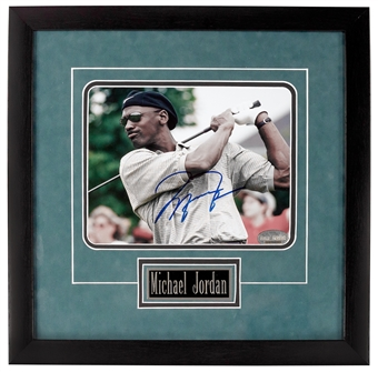 "Michael Jordan Autographed Professionally Framed ""Golfing"" 8x10 (Field of Dreams)"
